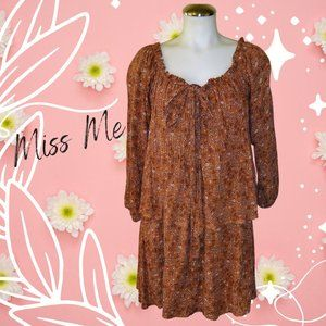 Miss Me Tiered Dress 3/4 Sleeve Size Large